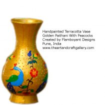 golden-paithani-peacock-vase