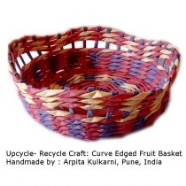 Orange -curve edge fruit basket