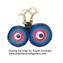 Quilling Earrings googly eyes 06