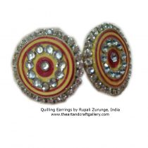 Quilling earrings in Red colour 2