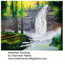 Waterfall_ Watercolour Painting