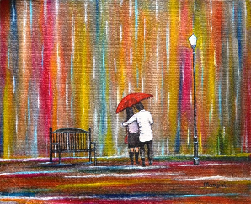 Love_in_the_Rain__original oil painting