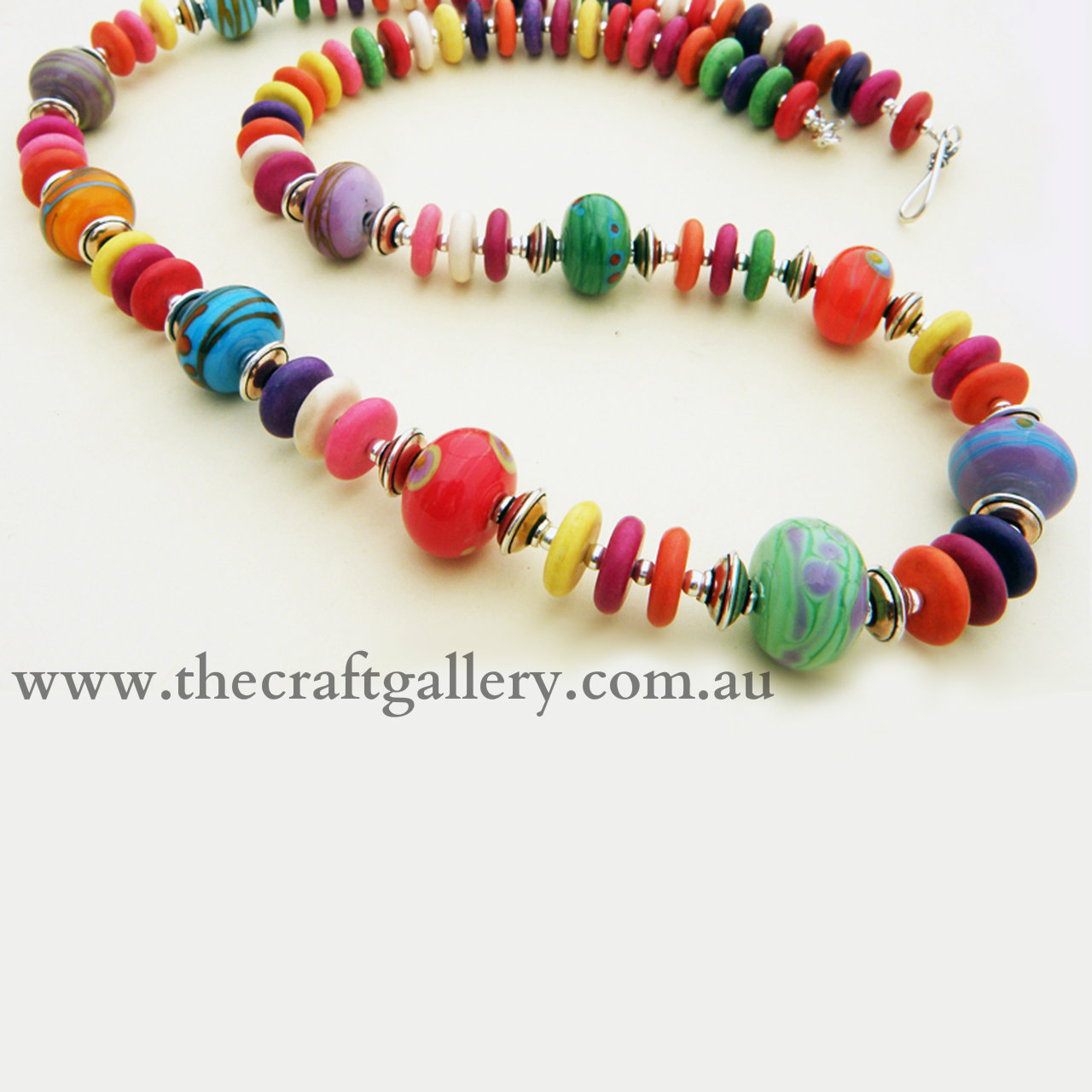 SGN100_colorful_howlite_necklace_with_10_handmade_glass_beads_150__89121.1410915332.1280.1280