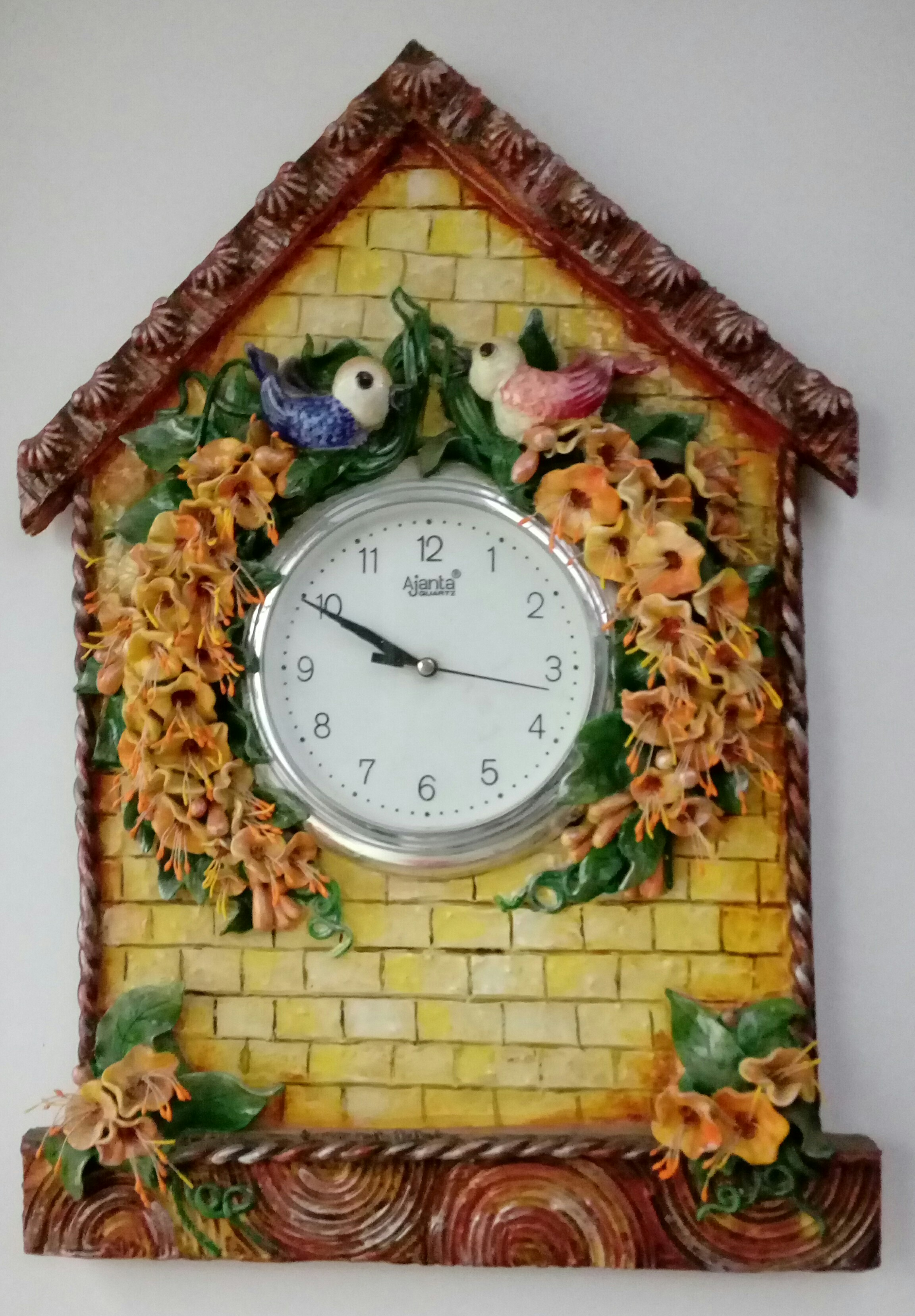 Handmade wall clock the art and craft gallery for Ceramic mural art